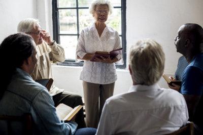 fellowship groups talking